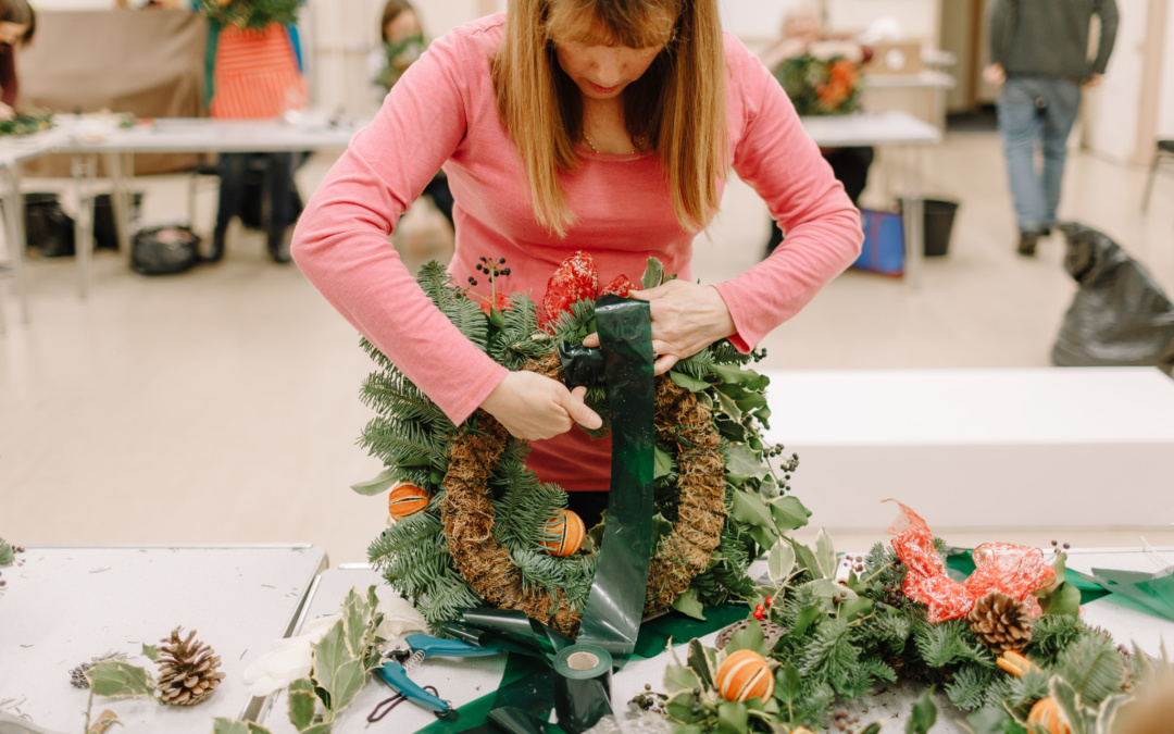 Christmas Wreath Workshop | Sue's Flower Studio Rayleigh