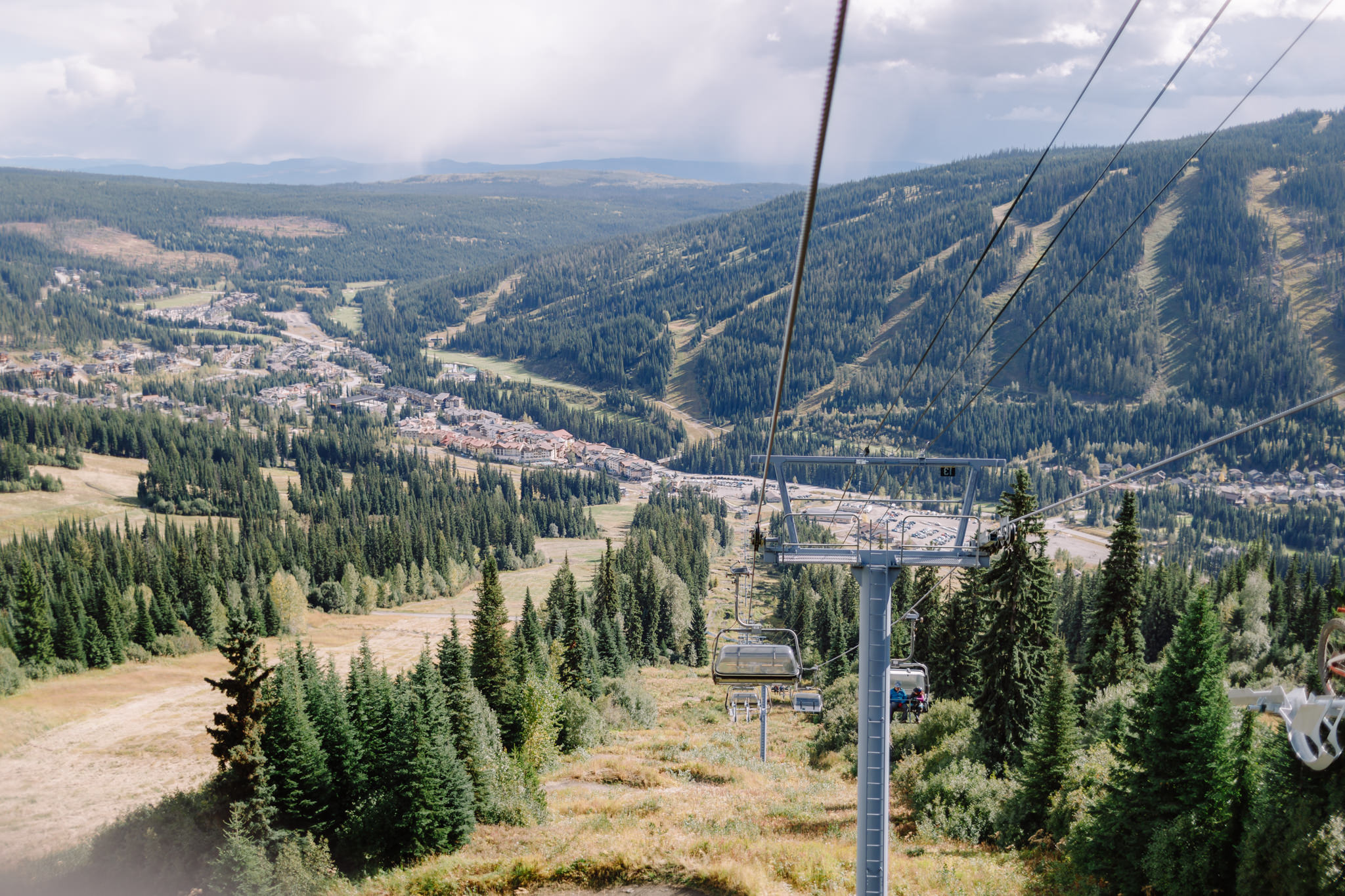 View of village from ski lift