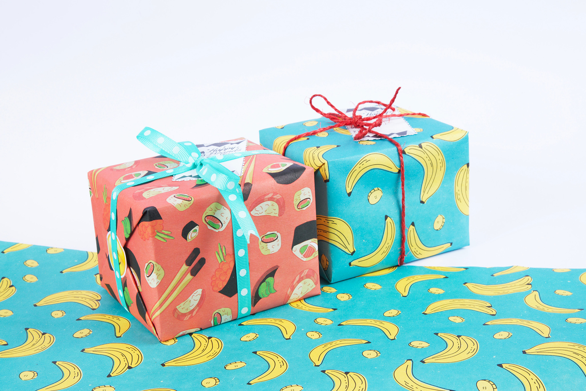 brightly wrapped gifts